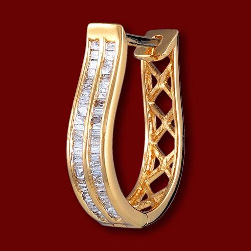 d2bb37997 E1370 Náušnice zlaté, diamanty, polkruh - najlacnejšie na ...