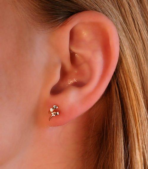 269e57986 E1427 Náušnice zlaté, diamanty, špirály - najlacnejšie na ...