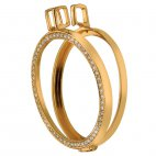 Strieborný prívesok Hot Diamonds Emozioni Coin Keeper Yellow Gold Coin Reversible DP559-558