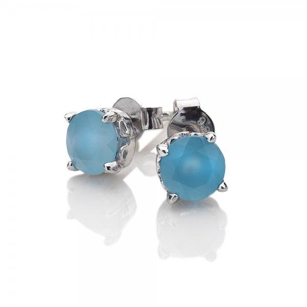 2148dfe26 AE009 Strieborné náušnice Hot Diamonds Anais modrý achát ...